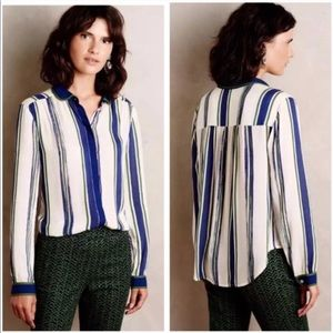 Anthropologie Maeve Art House Striped Shirt